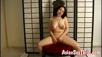 Big tit asian solo fingerfuck