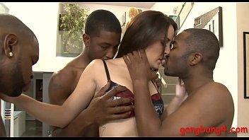 Spicy hot Marley Blaze DP by black men