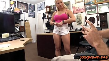 Huge tits blond lady nailed by pawn man