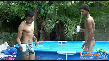 Gay twink boy sex Spicy twink boys cool off in the pool after sex