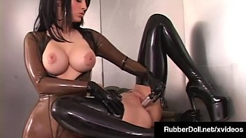 Latex Lesbian RubberDoll Pleases Fuck Friend January Seraph!