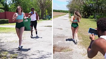 BANGBROS - Young Teen Harley Jade Goes For A Jog & Someone Follows Her