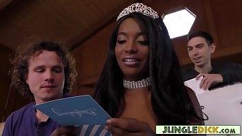 White Boys Gangbang Black Beauty Queen On Her Birthday (Daya Knight)