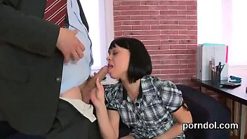 Fervent college girl gets teased and fucked by older instructor