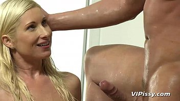 Water sport pee loving adult Couple drinks pee and has a messy fuck