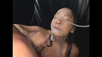 Sexy asian girl gets ladled with white goo, then sucks cock and takes a cumshot!