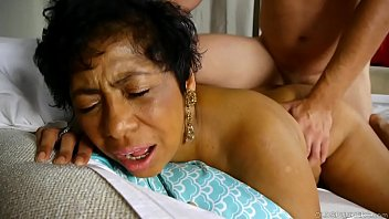 Beautiful busty black old spunker loves cum all over her nice big tits porno izle