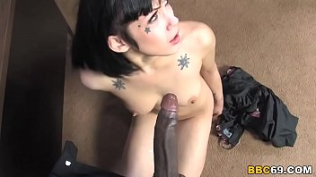 Asphyxia Noir Don't Want But Sucks And Fucks Big Black Cock