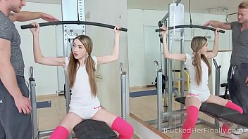 Pants for skinny teens I fucked her finally - skinny cutie gets a desired satisfaction in gym