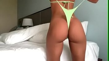 STUNNING Brunette with Beautiful Big Round Ass wearing Tight Neon Green String Thong and Giving Herself a Wedgie - For This Clip In HD and the Very Best Wedgie Babes available visit Patreon.com/wedgieclub for more!