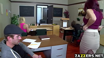 Adult undergraduate classes Hot teacher rides her pussy on top of students big cock