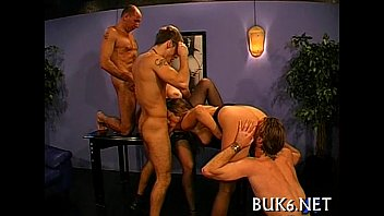 Free male bukkake Maid gets gang team fuck session