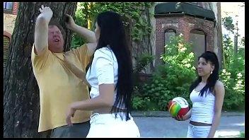 Femdom spitting slapping 2 amateur girls in femdom action outdoor in high heels - trampling, footworship