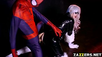 Pussy cat doll outfit - Spidey fucking the black cat so hard with his big cock