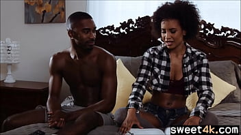 Ebony sister fucks with bbc brother