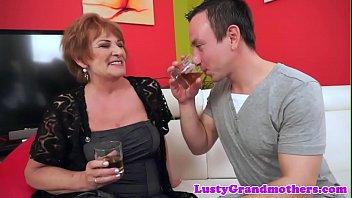 Alluring chubby granny rides fat cock pornhub video