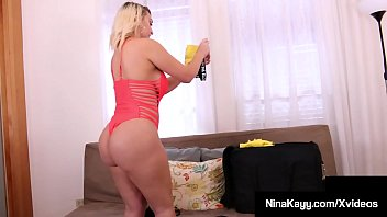 Thick Nasty Nympho Nina Gets Pussy Packed & Milks That Cock!