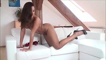 VRpussyVision.com - Hot brunette stripping Part 1