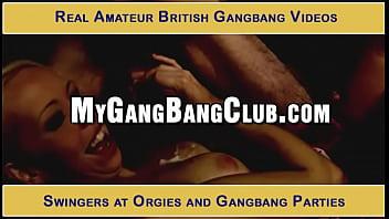 Real amateur gang bang
