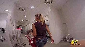 Katerina Hartlova Come with me Shooping and Changing Room in Mall