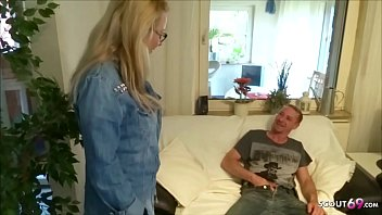 German Big Boobs MILF caught Friend Watching Porn and Help