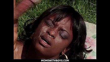 Ebony Mom Ms Panther Hardcore Outdoor Fucking