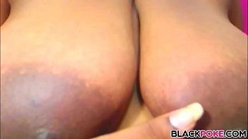 Huge black boobs babe teasing