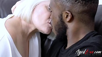 AgedLovE Huge Black Dick and Blonde Mature Chubby video