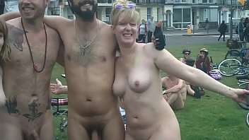 Naked girls dildo bike torture - The brighton 2015 naked bike ride part2 warning contains full frontal nudity