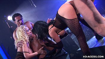 Image: Two hot and nasty pornstars fucking in a bdsm setting