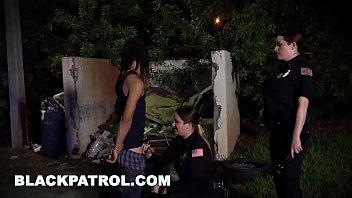 BLACK PATROL - MILF Cops With Big Tits And Thicc Asses Riding Criminal's Big Black Cock