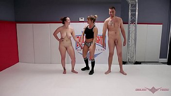 Man nude woman - Busty milf bella rossi challenges max blunts in an all out wrestling match