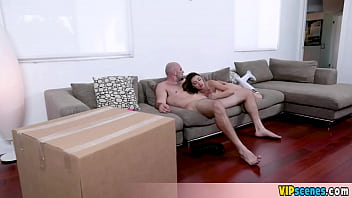 Extra small and petite stepsister Ava Eden acrobatic fucking