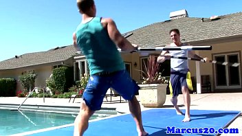 Mr marcus gay scene - Athlectic jocks assfucking by the pool