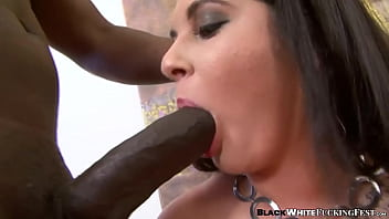 BBW woman plays with massive black dick before hot sex