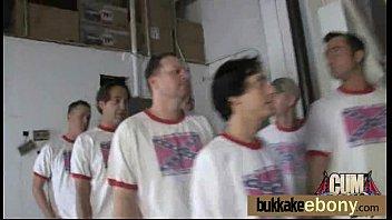 Bukkake ebony babe group fucking 1
