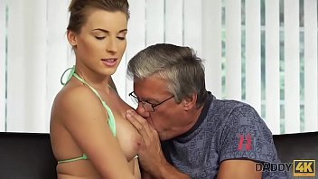 Sexy wet swimsuit - Daddy4k. cutie looks hot in wet swimsuit so why old man wants her