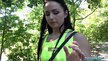 Public Agent Kittina Clairette gets creampied fucking outdoors pornhub video