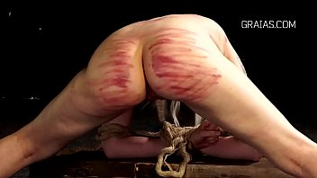 Adult bondage torture flash game - Bound slave girl shaking with pain