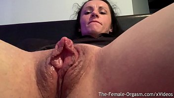 Lotta topps large clitoris Horny body builder rubs giant clit and wet pussy to contracting orgasm