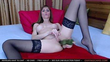 Amateur Cam Girl Plays Solo with a Bottle webcam live amateur live webcams