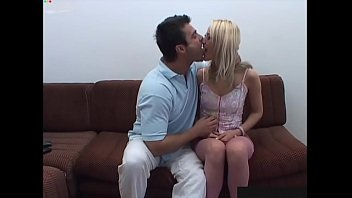 Sexy lingerie classy Classy, sexy blonde girl tested by rough guy