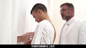 Xtubes of older gays and bis Mormonboyz - older cult leader daddy fucks young submissive bottom boy