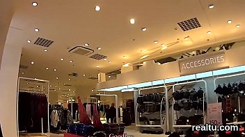 Fantastic czech kitten was seduced in the mall and drilled in pov