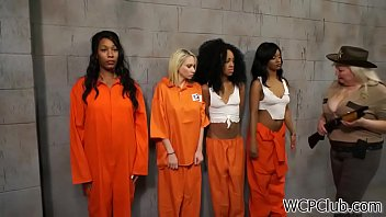 Hot lesbo prison - Gorgeous black milfs in orange