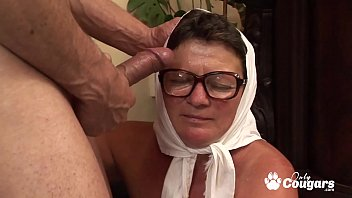 Granny Climbs Out Of Her Wheelchair To Ride Some Dick
