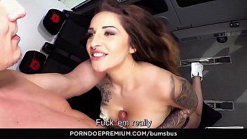 Wild sexy naughty Bums bus - sexy big-titted german babe wild vicky rides cock in the bus