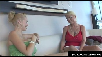 British Blonde Sophie Dee & Fuck Friend Katie Kox Share BBC!