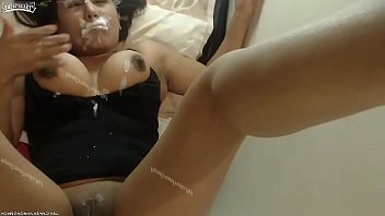 Big Tits Squirts In Her Own Mouth