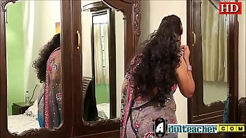 Indian hot teacher in pink bra and sari seducing young boy -Adulteacher.com